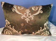 Beacon Hill Linen Silk Damask Lee Jofa Shayla Silk Pillow | eBay