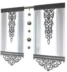 Window Coverings, Window Treatments, Panel Curtains, New Homes, Curtain Ideas, Windows, Mirror, Modern, Kitchen Ideas