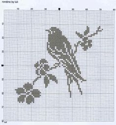 Filet crochet bird...