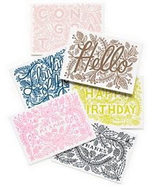 Assorted Letterpress Set by Rifle Paper Co.