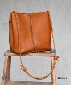 Rustica Leather Shoulder Bag // Handmade leather purse  // Women's Leather bag