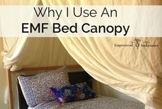 EMF Bed Canopy (great idea for people like me who happen to live right next to a cell phone tower...)