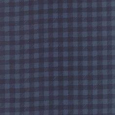 1canoe2 Dark Blue Prairie Gingham for Moda Fabric - Tucker Prairie - Moda Fabric - Blue Gingham - 1canoe2 Fabric Navy Material Check by Owlanddrum on Etsy
