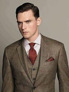 Three Piece Brown Suit