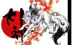 Japanese Wolf Art Japan art, wolf goddesses,