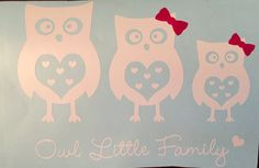 Owl Family Decal by CountryCottageGC on Etsy