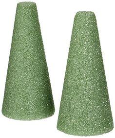 "Styrofoam Cones 6""X3"" 2/Pkg-Green FloraCraft"
