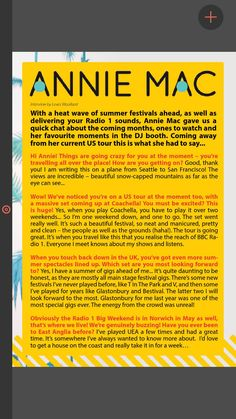 The Student Pocket Guide - Summer 2015 Issue - Annie Mac