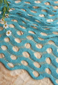 This stitch pattern looks complex but is actually deceptively simple, and can be easily adapted to any width or length by just changing the number of repeats. The silk yarn is both affordable and weighty enough to give the shawl a beautiful drape. Knit Or Crochet, Lace Knitting, Crochet Shawl, Knitting Stitches, Stitch Patterns, Knitting Patterns, Crochet Patterns, Knitting Magazine, Knitted Shawls