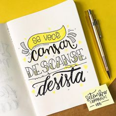 Bullet Journal Hand Lettering, Feeling Discouraged, Memes Status, Letter E, Text Fonts, Lettering Tutorial, Study Notes, Study Motivation, Brush Lettering