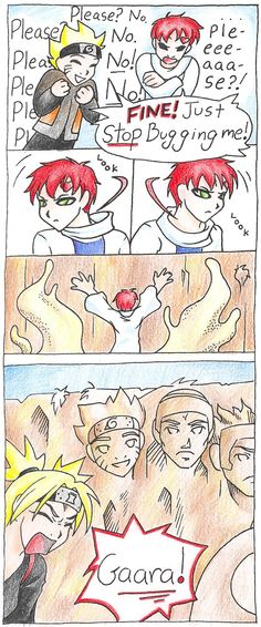 Gaara - Naruto asks a favor