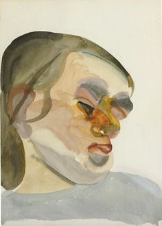 View Head of a Child III By Lucian Freud; Access more artwork lots and estimated & realized auction prices on MutualArt. Sigmund Freud, Matisse, Rembrandt, Painting Inspiration, Art Inspo, Lucian Freud Portraits, Picasso, Johannes Itten, Watercolor Water