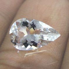 11.8x7.5 mm Goshenite Clear & transparent Beryl 1.7 Ct Pear Cut Stone…
