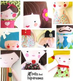 * Dolls And Daydreams - Doll And Softie PDF Sewing Patterns: How to Customize Handmade Dolls and Softies