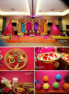 Indian Wedding Decorations Mehndi Decor – Famous Last Words Wedding Reception Centerpieces, Wedding Ceremony Backdrop, Wedding Stage, Wedding Events, Wedding Photos, Wedding House, Ceremony Arch, Wedding Tables, Wedding Bands