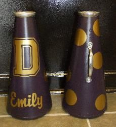 Dacula D Megaphone with dots!  Perfect size for the small cheerleaders.  13""