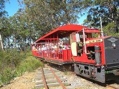 Ride 14km in a WWII era locomotive on Australia's most southern railway. The Ida Bay Train ride and History Tour in Lune River, Tasmania, Australia