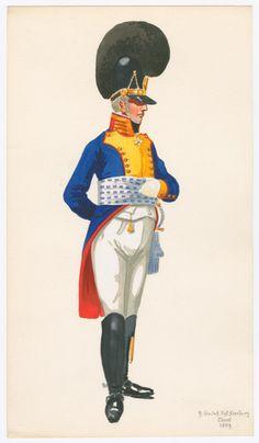 """Colonnello del 9 rgt. di fanteria della linea """"Ysenburg"""" bavarese"""