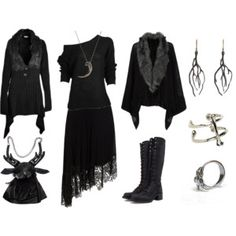 Dark Mori&Strega Fashion — gothdolly: GothicSummer💀 by goth-dolly featuring. Witch Fashion, Gothic Fashion, Feminine Fashion, Mode Mori, Mode Sombre, Witchy Outfit, Gothic Mode, Dark Mori, Mori Fashion