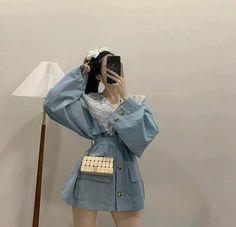 Aurora Dress, Asian Street Style, 2020 Fashion Trends, Ulzzang Fashion, Girl Fashion, Womens Fashion, Rain Jacket, Windbreaker, Feminine