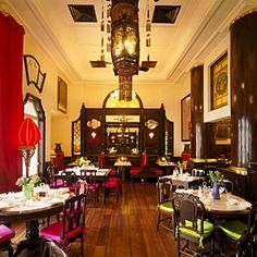 The China Club, Hong Kong - great for lunch or dinner, or a drink on the rooftop bar.   Any good concierge can get you a table!