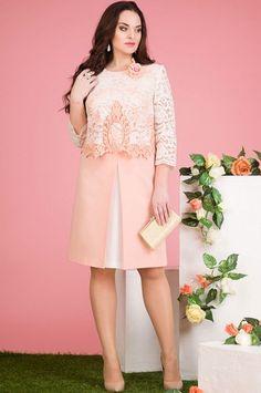 Платье Лилиана, нежно-розовый (модель 546) — Белорусский трикотаж в интернет-магазине «Швейная традиция»