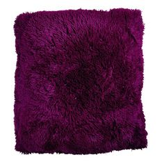 Habito Floor Cushion Shaggy Boysenberry 60cm x 60cm