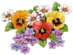 Bouquet including pansies