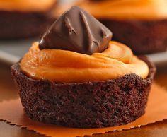 Trick-or-Treat Brownie Cupcakes