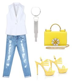yellow thought.. by nansylovesfashion on Polyvore featuring polyvore fashion style Bebe Dolce&Gabbana clothing