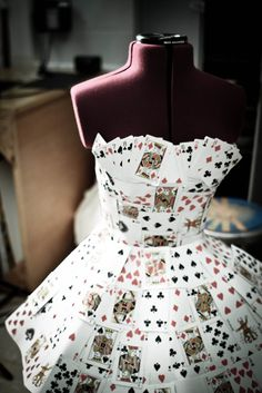"redcigar: "" [Request] Alice in Wonderland - The Mad Hatter "" Halloween Kostüm, Halloween Costumes, Playing Card Crafts, Playing Cards, Alice In Wonderland Tea Party, Alice In Wonderland Makeup, Queen Of Hearts Costume, Recycled Dress, Mad Hatter Tea"