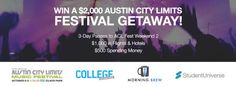 AUSTIN CITY LIMITS FESTIVAL Weekend 2 College Sweepstakes -... sweepstakes IFTTT reddit giveaways freebies contests