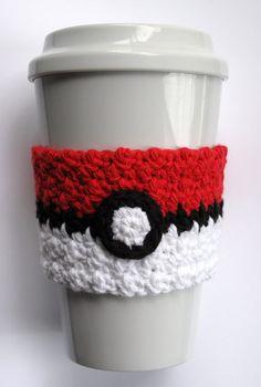 Crochet Poké Ball Coffee Cup Cozy by TheEnchantedLadybug on Etsy