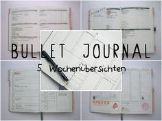 Bullet journal 5 Weekly Spread Ideas | 5 Wochenübersichten