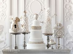 Cakes by CakeOperaCo.ca as seen in Summer/Fall issue of WedLuxe magazine. Photo by Anthony Manieri, 5ive15ifteen photo co.
