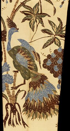 Detail of batik trousers, made in Indonesia, early C20th   V Search the Collections