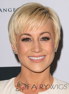 Chelsea Hightower Hairstyle Short Straight Full Lace Human Wigs