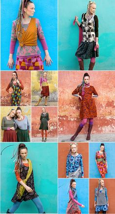 Gudrun Sjödén, color and print master. Swedish Fashion, 50 Fashion, Kinds Of Clothes, Clothes For Women, Style Me, Cool Style, Gudrun, Smart Outfit, Model Look