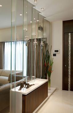 54 Ideas for apartment house entrance mirror Foyer Design, Lobby Design, Design Entrée, Deco Design, House Design, Design Ideas, Apartment Furniture Layout, Apartment Interior, Apartment Design