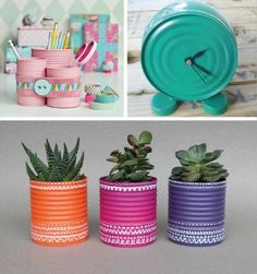metal crafts and green ideas to reuse and recycle metal containers