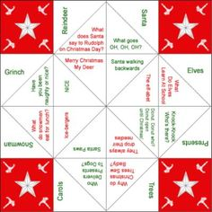 Christmas Origami Fortune Teller (Cootie Catcher) If you do not know how these work, ask your mum or grandma as these were very popular when they were young. Instructions Print out the templates clicking on the images below: 1. Fortune Teller already filled in for you: 2. A blank template for you to color in …