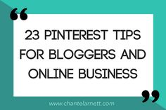 These 23 Pinterest tips for bloggers and online business will help harness the marketing power of Pinterest to grow your blog and business.