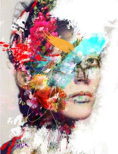 yossi kotler art- women- moment of truth. giclee print embellished