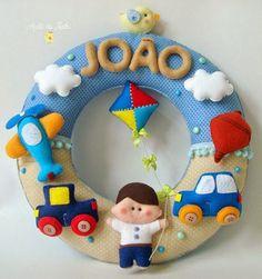 Felt Wreath, Felt Garland, Baby Kranz, Felt Name Banner, Felt Crafts Patterns, Baby Mobile, Baby Kit, Felt Baby, Felt Decorations
