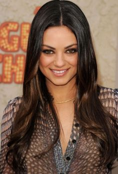 Dark brown ombre. Might color my hair like this!