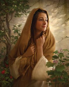 The Way of Joy - by Greg Olsen. Mary kept all these things and pondered them in her heart. Blessed Mother Mary, Blessed Virgin Mary, Arte Lds, Madonna, Heather B, Lds Art, Mama Mary, Lds Church, Christian Art