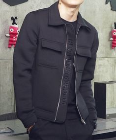 $28.22 Black jacket with front pockets.