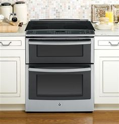 "PS950SFSS | GE Profile™ Series 30"" Slide-In Double Oven Electric Convection Range 