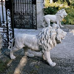 Design Toscano Regal Lion Sentinel of Grisham Manor Statue - Worked perfectly very good product.This Design Toscano that is ranked 232026 in the list of the top Animal Statues, Animal Sculptures, Lion Sculpture, Outdoor Statues, Garden Statues, Garden Sculptures, Statue Art, Manor Garden, Stone Lion