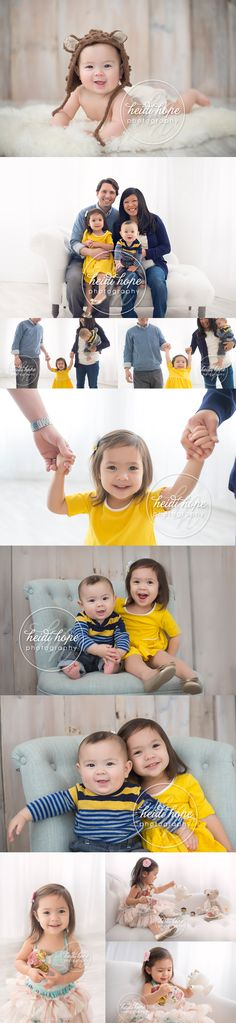 2 years and 6 month family session with a tea party